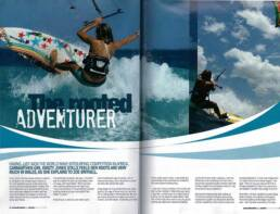 Rooted Adventurer two pages in magazine