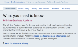 GO Wales Graduate Academy what you need to know