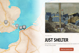 Just Shelter Story Map homepage
