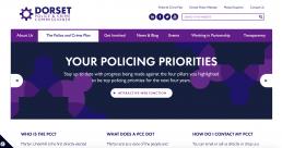 Dorset Police OPCC web homepage