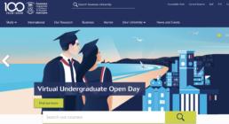 Swansea University homepage virtual undergraduate open day