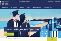 Swansea University homepage virtual undergraduate open day