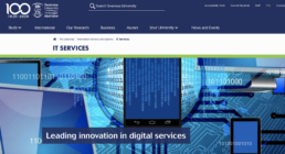 Swansea University IT Services homepage